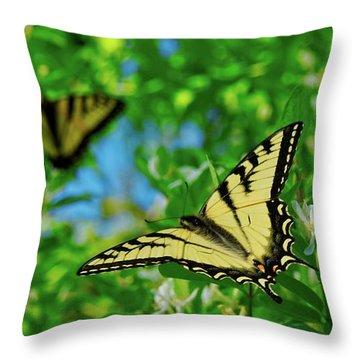 Swallowtails Throw Pillow