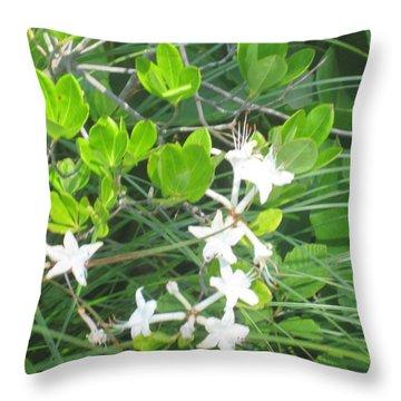 Swamp Honeysuckle Throw Pillow