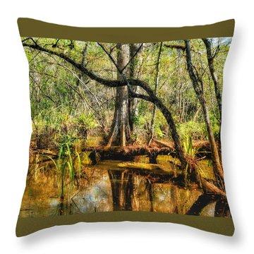 Swamp Life II Throw Pillow