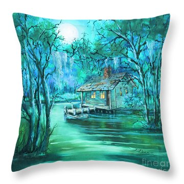 Swamp Moon Throw Pillow