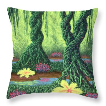 Swamp Things 02, Diptych Panel B Throw Pillow