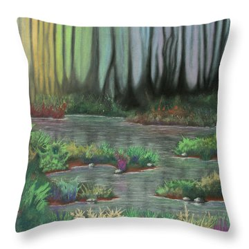 Swamp Things 01 Throw Pillow