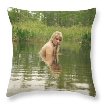 Swamp Witch Throw Pillow