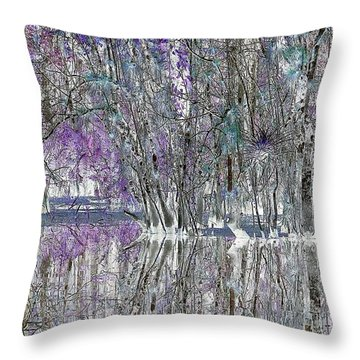 Swampscape Throw Pillow