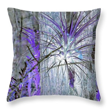 Glowing Air Plant Throw Pillow