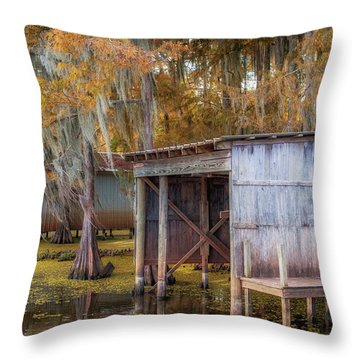 Swampy Dock  Throw Pillow