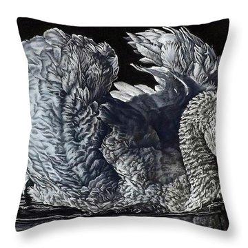 Swan #2 Throw Pillow