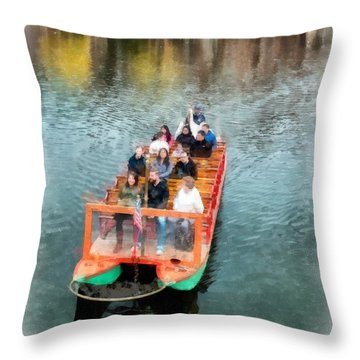 Swan Boats Boston Public Gardens Throw Pillow