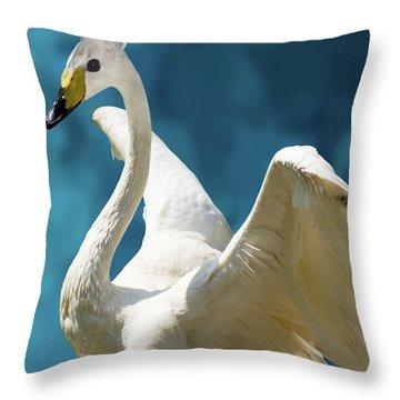 Swan Bunny Throw Pillow