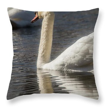 Throw Pillow featuring the photograph Swan by David Bearden