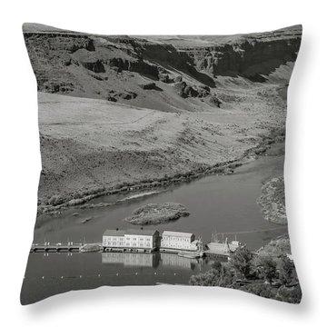 Swan Falls Dam Throw Pillow