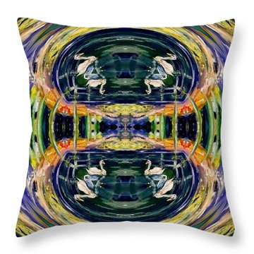 Swan Lake Fantasy Throw Pillow