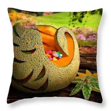 Swan Melon Throw Pillow