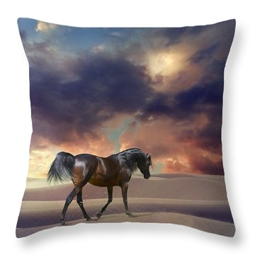 Swan Of Desert Throw Pillow