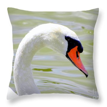 Throw Pillow featuring the photograph Swan Profile by Terri Mills