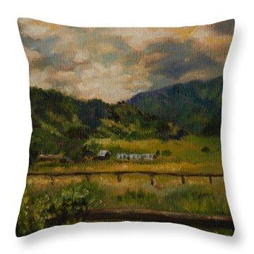 Swan Valley Hillside Throw Pillow