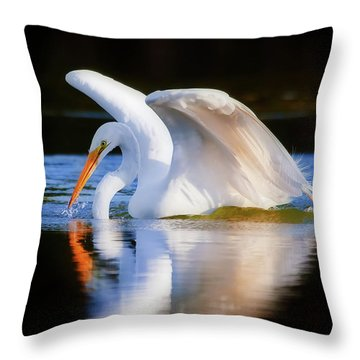 Swanlike Throw Pillow