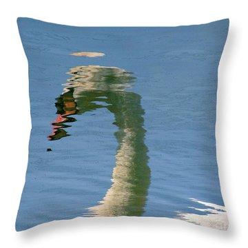 Swanreflection Throw Pillow