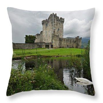 Swan's Lake Throw Pillow