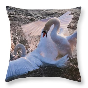 Nuptial Dance 3 Throw Pillow