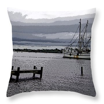 Throw Pillow featuring the photograph Swansboro Harbor by Skyler Tipton