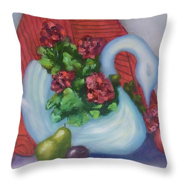Swanza's Swan Throw Pillow