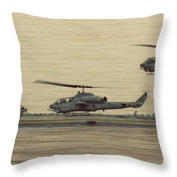 Swarming Cobras Throw Pillow