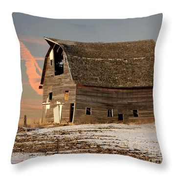 Swayback Barn Throw Pillow by Kathy M Krause