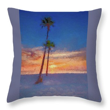 Throw Pillow featuring the photograph Swaying Palms by Marvin Spates