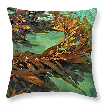 Swaying Seaweed Throw Pillow