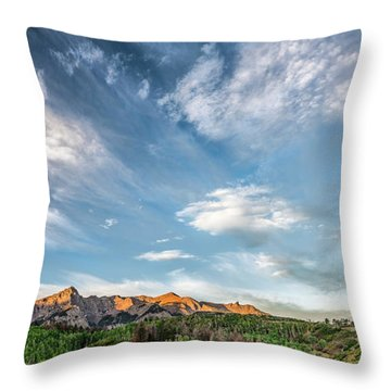Throw Pillow featuring the photograph Sweeping Clouds by Jon Glaser