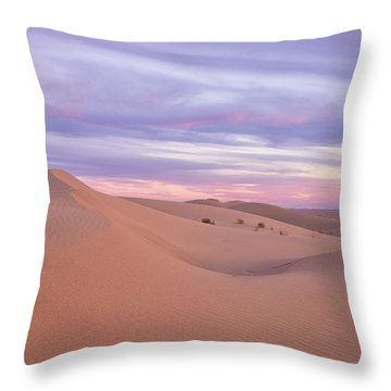 Throw Pillow featuring the photograph Sweeping Dunes At Sunset by Patricia Davidson