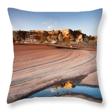 Sweeping Sandstone Throw Pillow