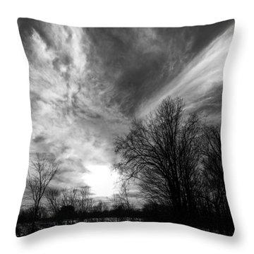 Sweeping Sky Throw Pillow