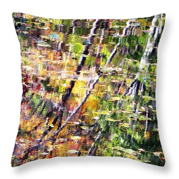 Raking Water  Throw Pillow by Melissa Stoudt