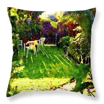Sweet Afternoon Throw Pillow