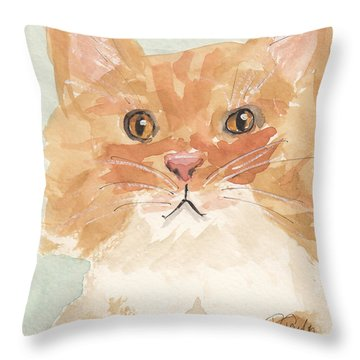 Sweet Attitude Throw Pillow by Terry Taylor