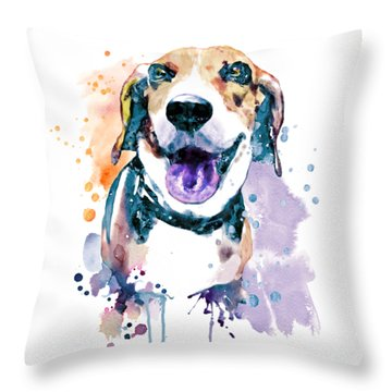Sweet Beagle Throw Pillow