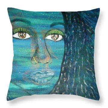Sweet Blues Throw Pillow