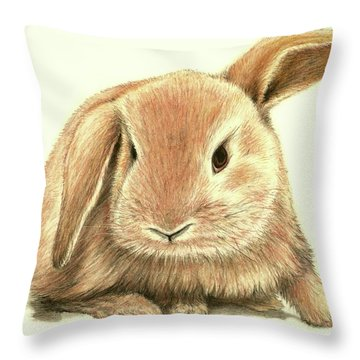 Sweet Bunny Throw Pillow by Heidi Kriel