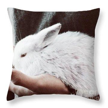 Sweet Bunny Love Throw Pillow