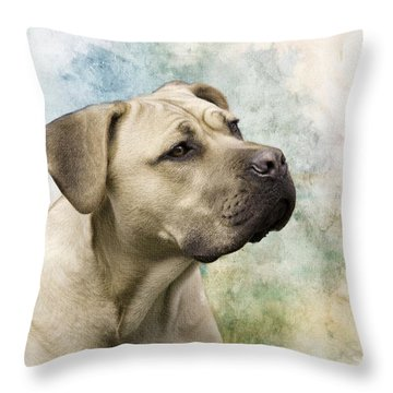 Sweet Cane Corso, Italian Mastiff Dog Portrait Throw Pillow
