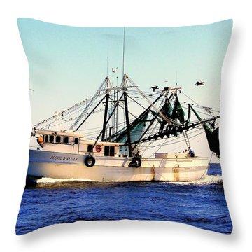 Sweet Carolina Throw Pillow by Karen Wiles