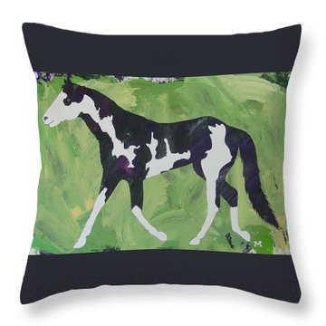 Throw Pillow featuring the painting Sweet Caroline by Candace Shrope