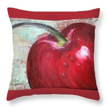 Sweet Cherry Throw Pillow