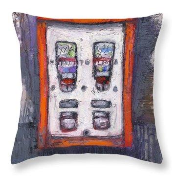 Sweet Childhood Memories,bubblegum Machine Throw Pillow by Martin Stankewitz