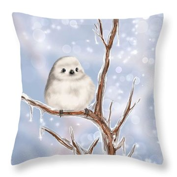 Throw Pillow featuring the painting Sweet Cold by Veronica Minozzi