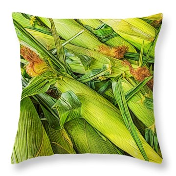 Sweet Corn Throw Pillow