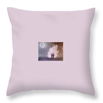Sweet Couple Throw Pillow by Madhusudan Bishnoi