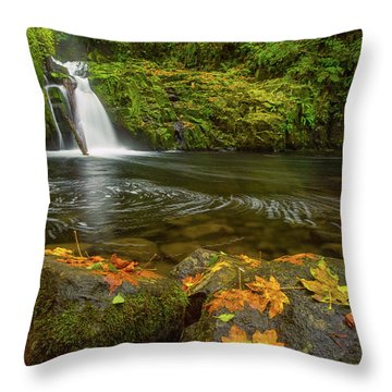 Throw Pillow featuring the photograph Sweet Creek Falls In Autumn by Patricia Davidson